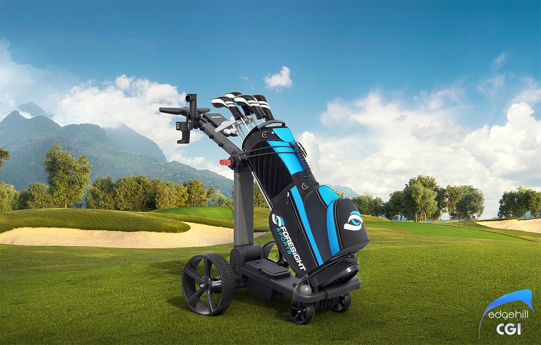 Golf Cart 3D CGI