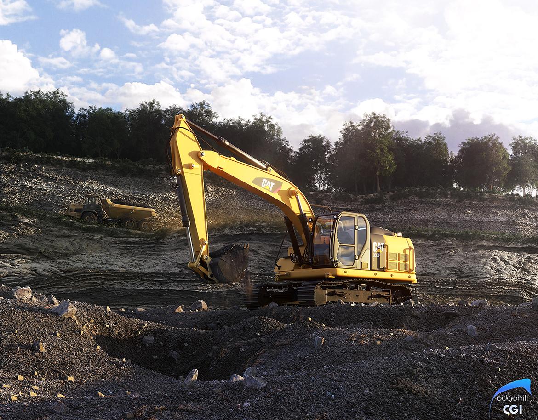 3D Excavator EdgeHill CGI